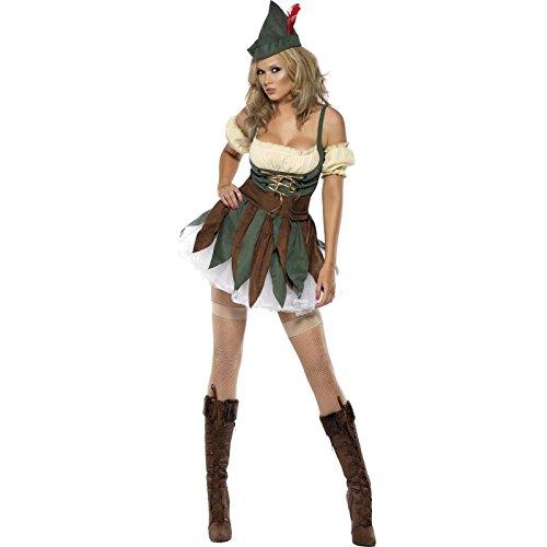 Smiffy's - Disfraz de Robin Hood para mujer, talla UK 12 - 14 (32801M)