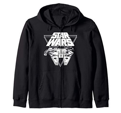 Star Wars Last Jedi Millennium Falcon Geometric Logo Felpa con Cappuccio