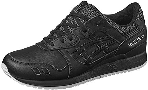ASICS Herren Gel Lyte III HL701-9090 Sneakers, Schwarz (Black/Black), 44 EU