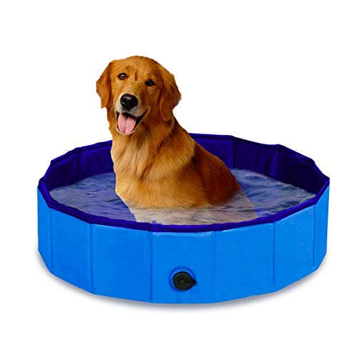 Zento Deals Foldable Dog Pool – Portable Kiddie Swimming Pool – Collapsible Pool for Large and Small Dogs - Pet Bathing Tub Outdoor and Indoor