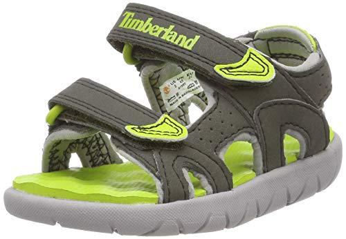 Timberland Perkins Row 2-Strap, sandale junior Descubierta Unisex niños, Verde (Forest Night), 27 EU