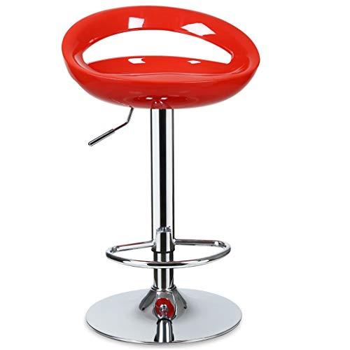 Tabouret de bar LF- Chaise de Bar Café Chaise lève-Fauteuil Famille Tabouret Haut Tabouret de comptoir Noir Multicolore Simplicité (Color : Red)