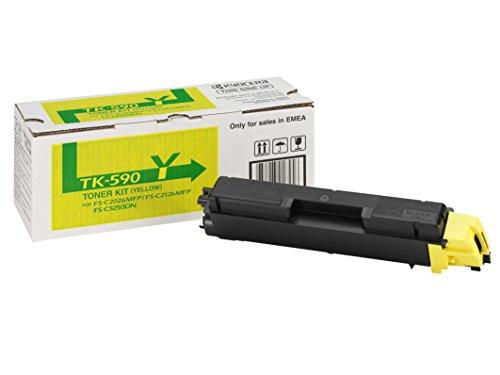 Kyocera TK-590Y Toner Gelb, Original Tonerkartusche 1T02KVCNL0. Kompatibel für ECOSYS M6026cdn