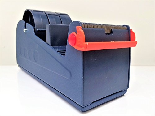 H.S.P. EX-337 Blue/Grey Premium Multi-Roll Steel Desk Top Dispenser: 3 in. Wide (3 in. core)