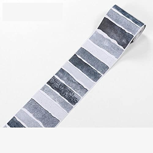 Papel pintado para bordes autoadhesivos, diseño de rayas grises, gruesas, impermeables, para decoración del hogar, baño, cocina, dormitorio, estudio, pasillo, entrada, azulejos de cristal, 5 x 500 cm