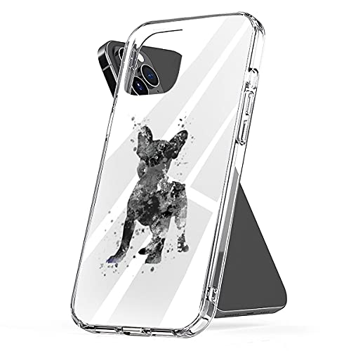 Phone Cover Case Compatible with iPhone Samsung Galaxy French Pro Max Bulldog, Xr Frenchie, Xs French 6 Bulldog 8 Art S9 7 Plus X 11 12 Se 2020 Mini S10 S20 S21 Waterproof Accessories Scratch