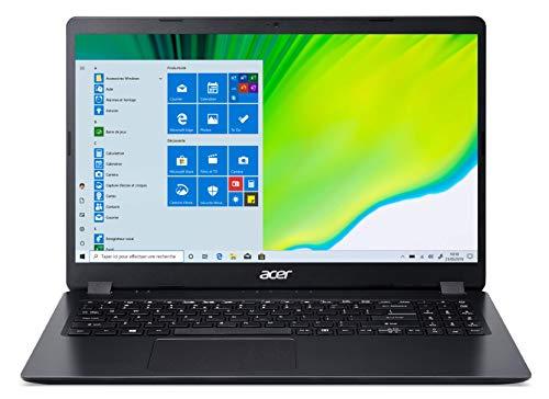 Acer Aspire 3 A315-42-R10X Ordinateur Portable noir 15.6'' FHD (Ryzen 7, RAM 8Go,SSD 512Go, AMD Radeon Graphics, Windows 10)- Clavier AZERTY (français)