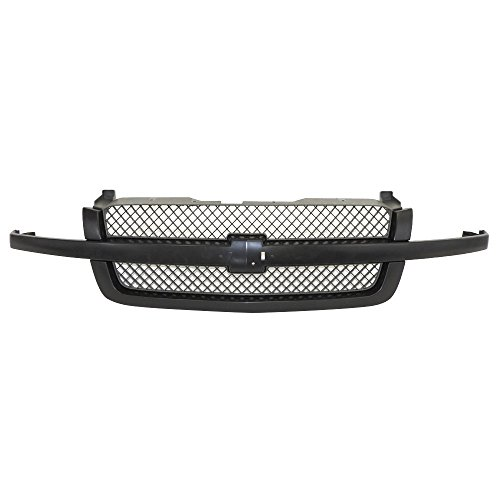 Perfit Liner New Front Black Grille Grill Replacement For 03-07 Chevy Chevrolet Silverado 1500 Pickup Truck Classic Without Dale Earnhardt Package Fits SS Model RPO-41U Fits GM1200557 19168630