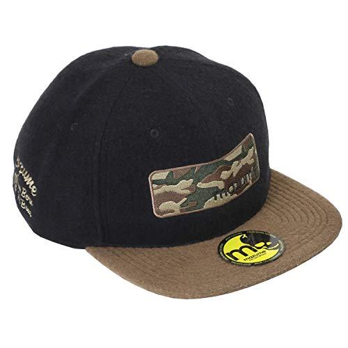 マズメ(Mazume) 帽子 フラットキャップ ボックス カモ ブラック×カーキ フリーサイズ MZCP-517-02