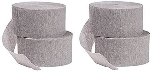 CGT Gray Crepe Paper lowest price Streamers Annive Birthday Shower Bargain sale Baby Party