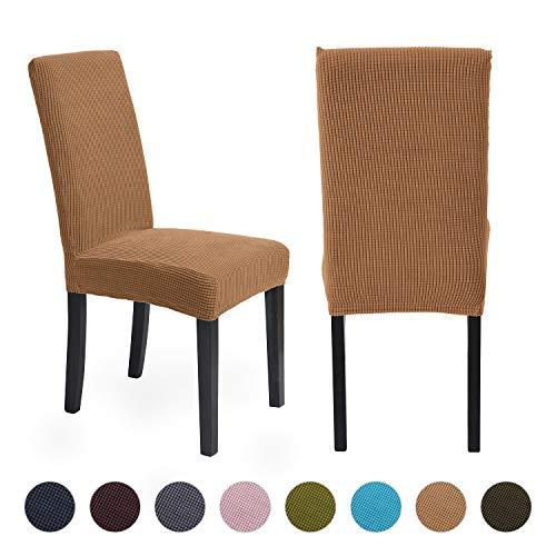 ManMengji Fundas para Sillas de Comedor Elásticas 4 Piezas, Fácil de Limpiar Desmontables Protectoras para sillas, para Hotel, Decor Restaurante, Boda Moderna