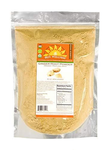 Buy Wellness Ginger Ground Organic Non GMO, Ginger root powder Great Flavor Ginger Tea, Cookies,...