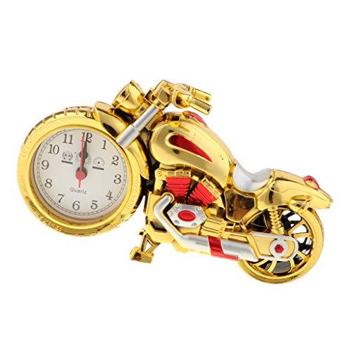 B Blesiya Figuras de Simulación Jinrikisha de Reloj Forma Moto Colección de Modelos de Coleccionables - Golden B