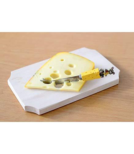 Couteau à fromage avec manche décoré fromage + souris