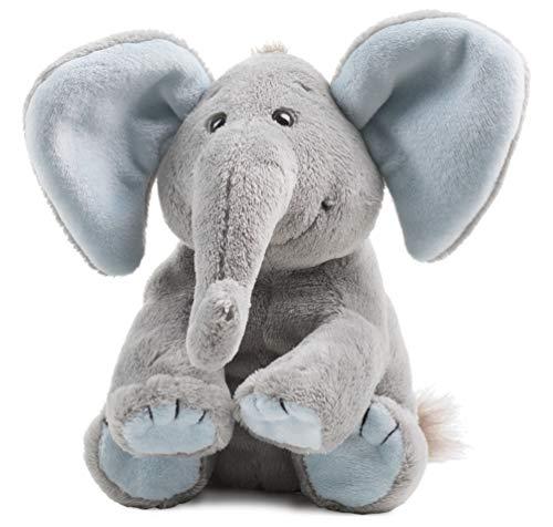 Schaffer Knuddel mich! 5182 Elefant Sugarbaby Blue Plüschtier, blau, Größe M 19 cm