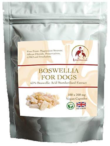 Lonjevitee Boswellia for Dogs 100 x 200 mg vegan capsules
