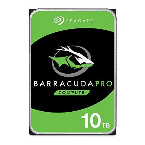"""Seagate BarraCuda Pro, 10 To, Disque dur interne hautes performances HDD – 3,5"""" SATA 6 Gbit/s 7 200 tr/min, 256 Mo de mémoire cache, pour PC, services Rescue valables 2 ans (ST10000DM0004)"""