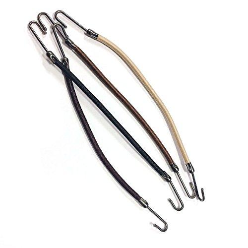 Frcolor 20pcs crochets de queue de cheval bandes élastiques coiffants bandeau pince à cheveux pinces à cheveux tresse de cheveux (café)