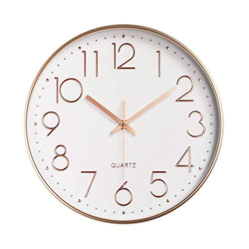 OH 12 Pulgadas Silenciosa Antiadherente Reloj de Pared 30 cm Moderno de Cuarzo Barrido de Cuarzo Relojes de Pared para la Sala de Estar en Casa Habitaciones Oficina de la Oficina de