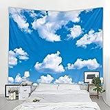 Cielo nubes blancas paisaje tapiz Mandala Tarot colgante de pared...