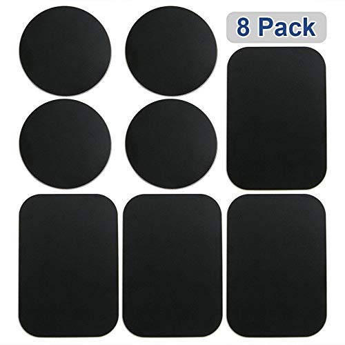 GCMPCM18COMPO All Black//No Logo GradCap Metal Plate for Magnetic Mount Universal Replacement Plate Metal Disc with Strong Adhesive for Car Mounts 2 Rectangle and 2 Round