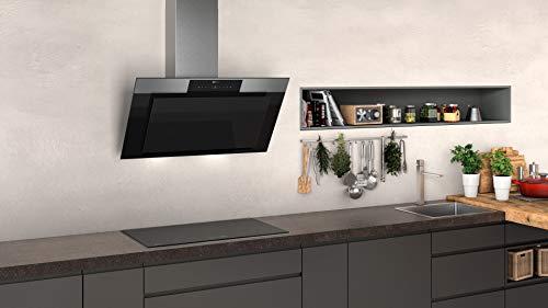 Neff D95IPP1N0 Dunstabzugshaube schräg N70 / 90cm / Abluft oder Umluft / EfficientDrive / TouchControl / Energieeffizienz A / Klarglas / schwarz - 5