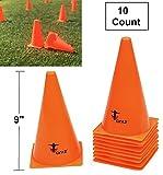 Cintz Field Cones, Heavy Duty, 9' High, Set of 10