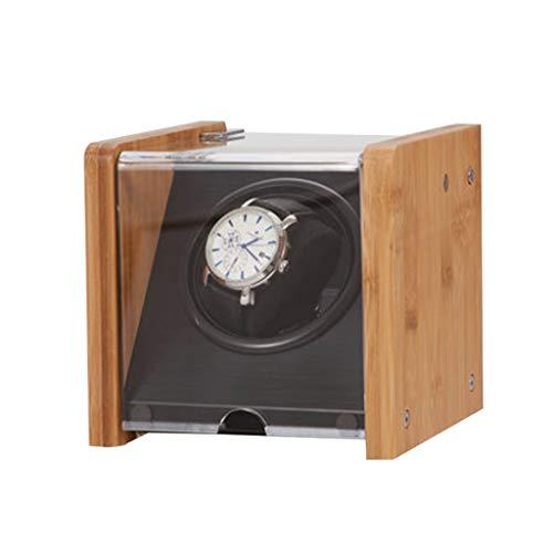 JWINDERU Automático Watch Winder Wood Rotar Caja de Reloj eléctrica Silent Motor...