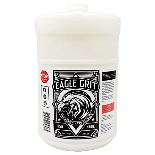 Eagle Grit Heavy Duty Industrial Hand Cleaner for Auto Grease, Dirt, Oil, Paint - Eco-Friendly Moisturizing Silica Formula - (1 Gallon Wall Mount Refill)