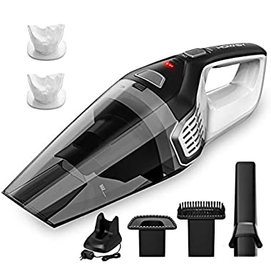 Homasy Portable Handheld Vacuum Cleaner, 6KPA Powerful Cyclonic Suction Vacuum Cleaner Cordless, 14.8V Lithium with Quick Charge Tech, Wet Dry Lightweight Hand Vac