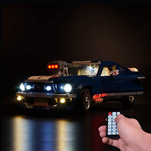 LODIY Luci LED Kit di Luce Light con Telecomando per Lego 10265 Ford Mustang (Modello Lego Non Incluso)