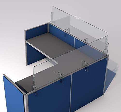 SneezeDefense Acrylic Plexiglass Sneeze Guard Barrier and Shield for Cubicles (36'W x 24'H, Clear)