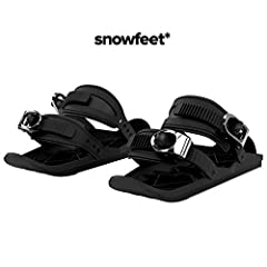 ✔️ New booming winter sport. A combination of skiing and skating. Ski-shoe attachments that turn your shoes into mini skis! ✔️ Snowfeet attach right to your winter shoes or snowboard boots. Adjustable bindings let you attach Snowfeet to any shoe. One...