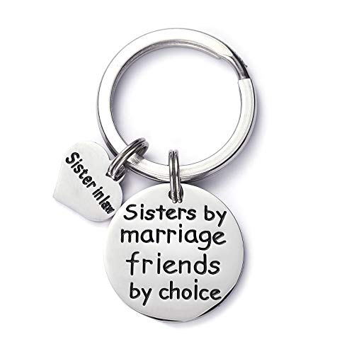 LParkin Sister in Law Gift Sister by Marrige Friends by Choice Keychain (Keychain)