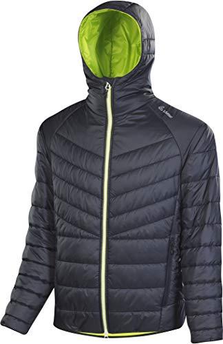 LÖFFLER M Kapuzenjacke Primaloft 100 Grau-Grün, Herren Primaloft Isolationsjacke, Größe 48 - Farbe Graphite - Lime
