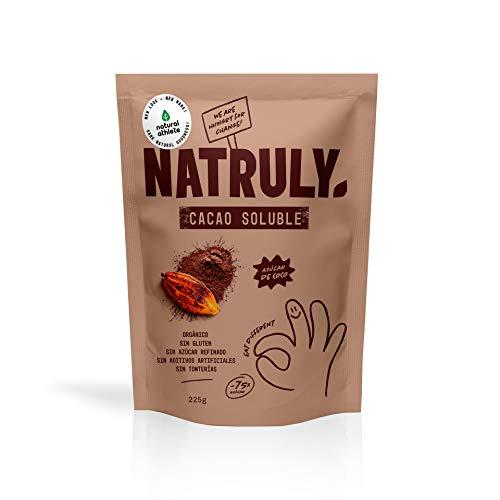 NATRULY Cacao en Polvo Sin Azúcar Refinado, Cacao Soluble Orgánico, Sin Gluten, Sin Lactosa, Solo 25{7411ff6df5e740ce31657b06ec942a12c326afa722773f7d5dc79cb80568e462} Azúcar de Coco - 325gr