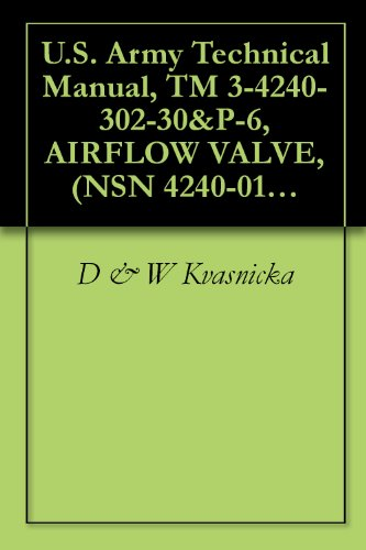 U.S. Army Technical Manual, TM 3-4240-302-30&P-6, AIRFLOW VALVE, (NSN 4240-01-055-1493), 1986