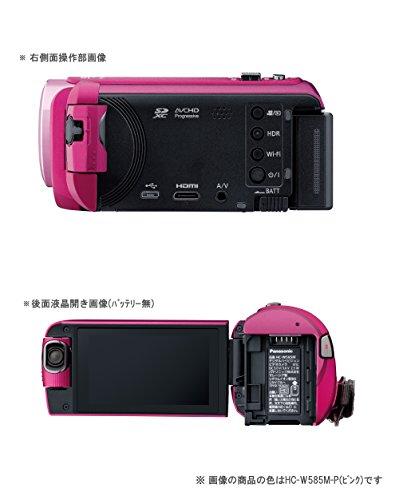 パナソニックHDビデオカメラW585M64GBワイプ撮り高倍率90倍ズームブラウンHC-W585M-T