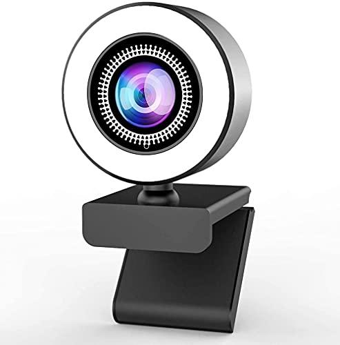 Webcam Pc Full HD 4K Webcam Cámara Web 2K Autofocus con Micrófono para Pc Laptop 1080P Web CAM para La Conferencia De Estudio En Línea-Enfoque Automático 2K