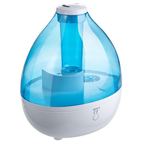 Luftbefeuchter TaoTronics Ultraschall 130W 6L Befeuchter bis zu 40-60㎡ Warm & Kalt Dampf Luftfilter mit LED-Display, Nachtmodus