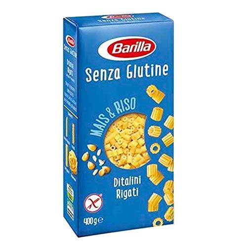 Barilla Senza Glutine Ditalini Rigati Glutenfreie Teigwaren aus Mais- und Reismehl 6 x 400g = 2400g