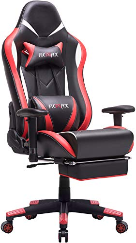 Ficmax Gaming Chair Ergonomic Computer Gaming Chair with Footrest, High...