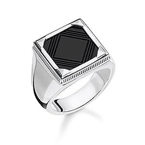 Thomas Sabo -Siegelringe 925_Sterling_Silber Onyx Ringgröße TR2211-698-11-64