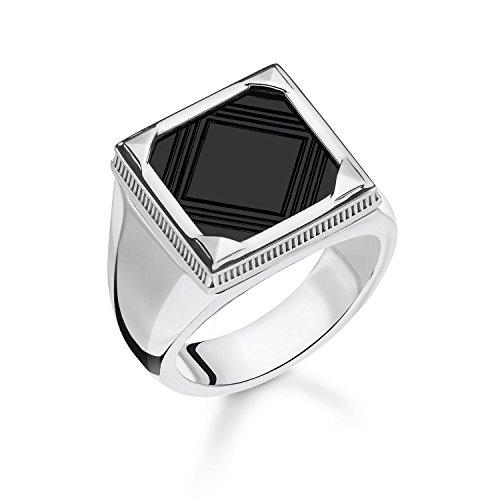 Thomas Sabo -Siegelringe 925_Sterling_Silber Onyx Ringgröße TR2211-698-11-60