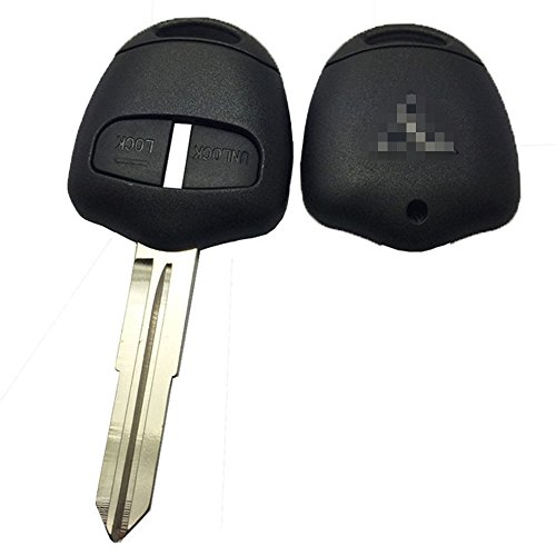 Horande 2 Button Replacement Housing Shell Remote Key Fob Case Fit Mitsubishi Lancer Evolution Grandis Outlander Key Fob Cover Shell Right Blade
