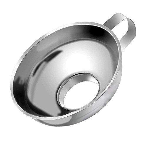 Macabolo Dosentrichter, Edelstahl Breiten Mund Trichter mit Griff Küche Kochwerkzeuge Gadgets für Marmelade