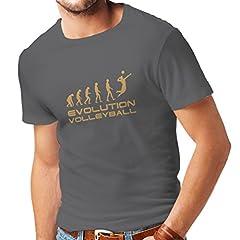 lepni.me Camiseta de la Historia y la Evolución del Juego de Voleibol para Hombre