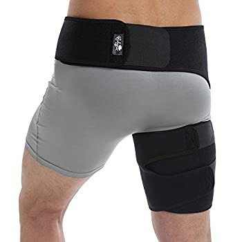 Groin Wrap Adjustable Support for Hip Groin Hamstring Thigh and Sciatic Nerve Pain Relief