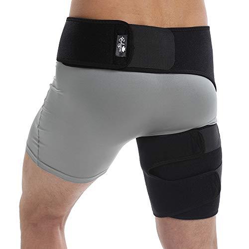 Bodyprox Groin Wrap, Verstellbare Unterstützung für Hip, Groin, Kniesehnen, Oberschenkel und Sciatic Nerv Schmerzlinderung