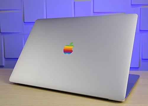 Retro Rainbow Apple Decal Sticker for MacBook Pro 2017, 2018, 2019 MacBook Pro, iPad Pro 10.5